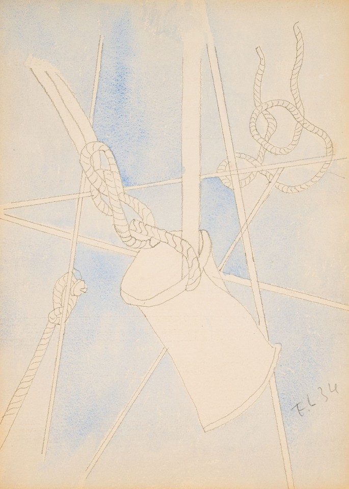 Fernand Leger ,   Untitled Composition (Rope and Bucket)  ,  1934     Watercolor and pencil ,  9 1/2 x 12 in.